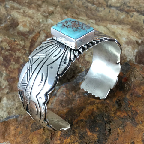 Dry Creek Turquoise Sterling Silver Bracelet by Marita Benally