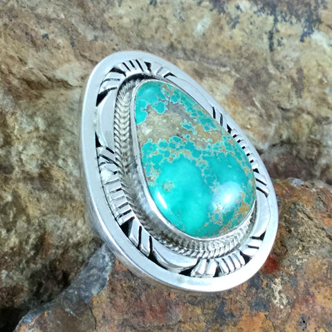Carico Lake Turquoise Sterling Silver Ring by Esther Spencer Size 7