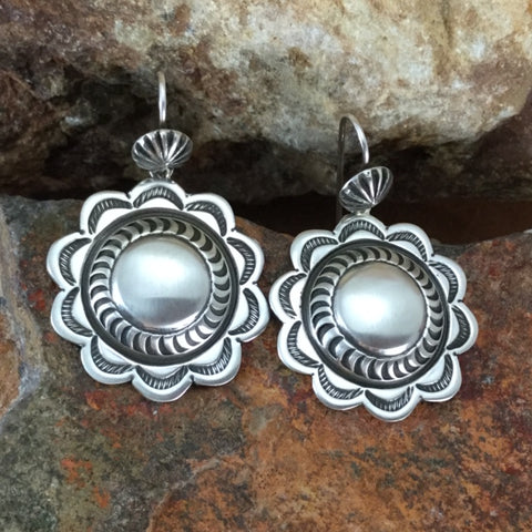 Traditional Sterling Silver Earrings by K Nataani