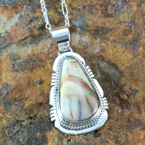 Mammoth Tooth & Sterling Silver Pendant