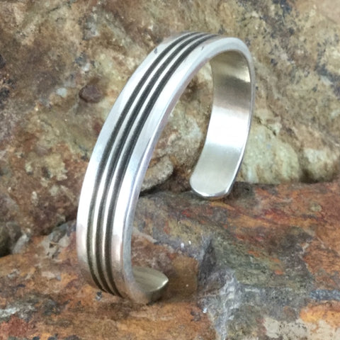 Traditional Sterling Silver Cuff Bracelet by Karl Nataani