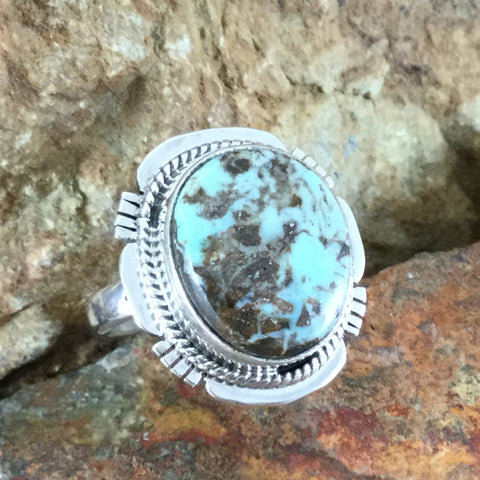 Dry Creek Turquoise Sterling Silver Ring Size 7