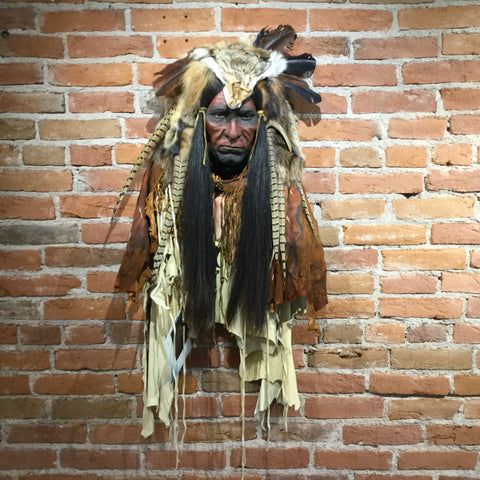 Yellow Smoke Native American Style Spirit Mask by Cindy Jo Popejoy