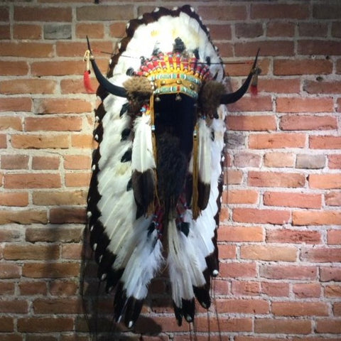 "40"" Split Horn Victory Headdress by Russ Kruse"