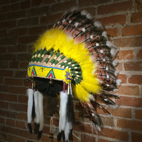 Yellow Halo Headdress by Russ Kruse