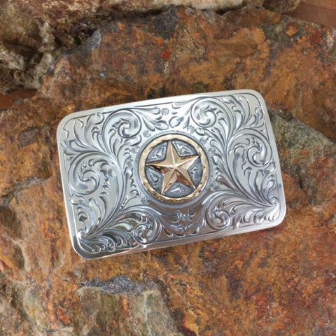 "Vogt Silversmiths Lone Ranger Trophy 3"" Belt Buckle"