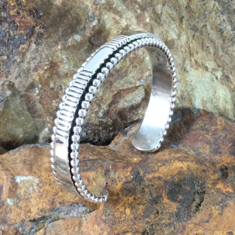 Sterling Silver Bracelet by Artie Yellowhorse & Jonathan Nez