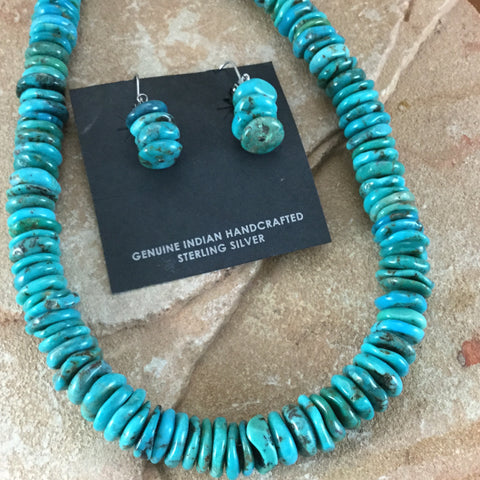 "18"" Kingman Turquoise Single-Strand Beaded Necklace by Lisa Chavez"