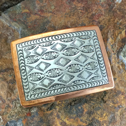 Sterling Silver & Copper Buckle - By Sylvana Apache