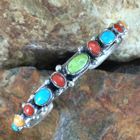 Leo Feeney Sleeping Beauty Turquoise Spiny Oyster Sterling Silver Bracelet -- ON SALE