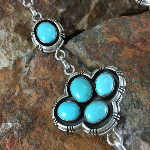 Campitos Turquoise Sterling Silver Necklace by Marvin McReeves