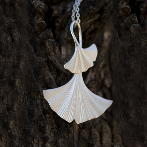 Rebecca Hook Ginkgo Necklace
