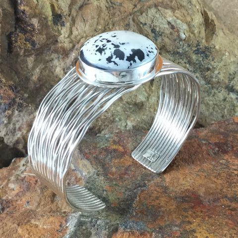 White Buffalo Sterling Silver Bracelet