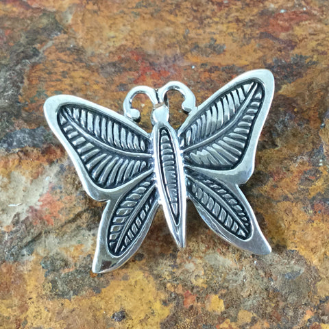 David Rosales Silver Country Sterling Silver Pendant / Pin Butterfly