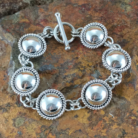 Sterling Silver Link Bracelet by Artie Yellowhorse