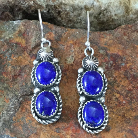 Lapis Sterling Silver Earrings by Jeanette Dale