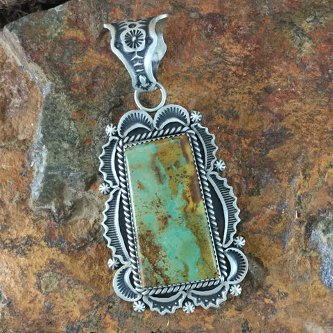 Royston Turquoise Sterling Silver Pendant by Harold James