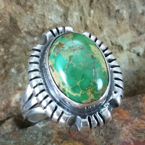Royston Turquoise Sterling Silver Ring - Size 8