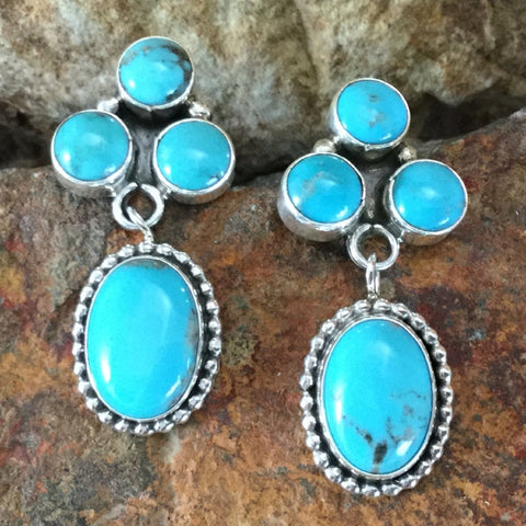 Campitos Turquoise Sterling Silver Earrings