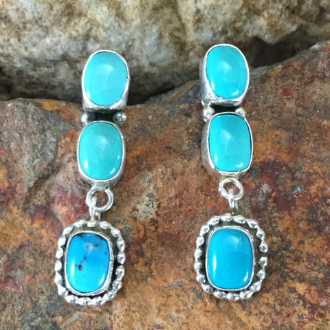 Carico Lake Turquoise Sterling Silver Earrings
