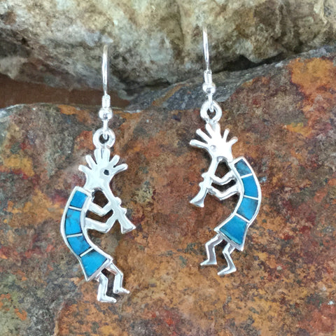 David Rosales Arizona Blue Sterling Silver Earrings