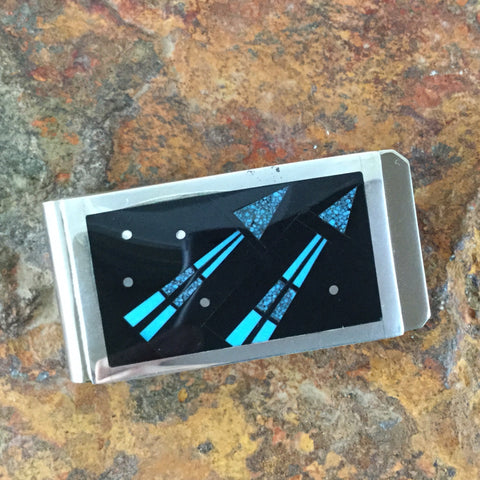 David Rosales Shadow Peak Fancy Inlaid Sterling Silver Money Clip