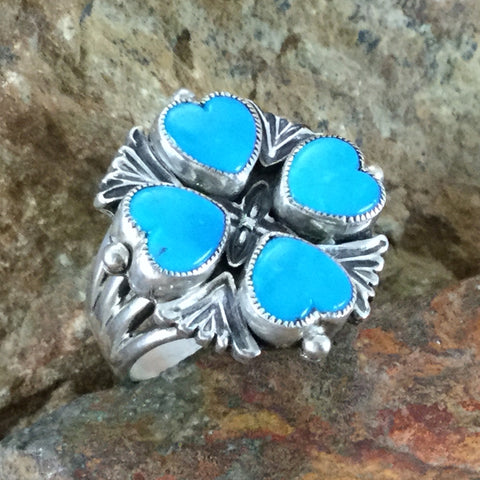 Sleeping Beauty Turquoise Sterling Silver Ring by Valerie Aldrich