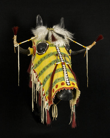 Split Horn Horse Headdress by John MacLeod
