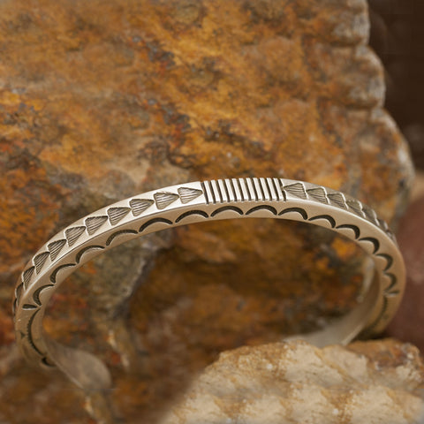 Traditional Sterling Silver Cuff Bracelet by K Nataani