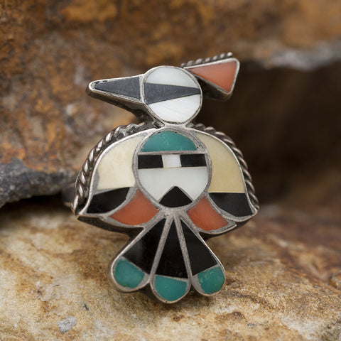 Zuni Bird Ring - Sterling Silver - Estate Jewelry