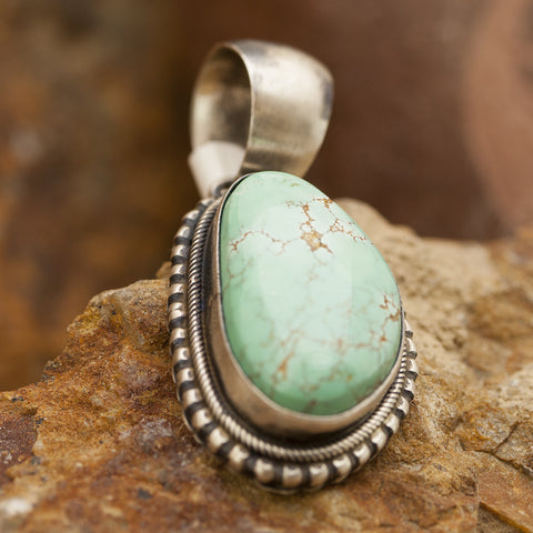 Carico Lake Turquoise Sterling Silver Pendant by G Spence