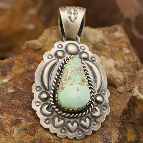Carico Lake Turquoise Sterling Silver Pendant