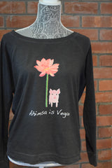 Ahimsa is Vegan Slouchy Sweatshirt