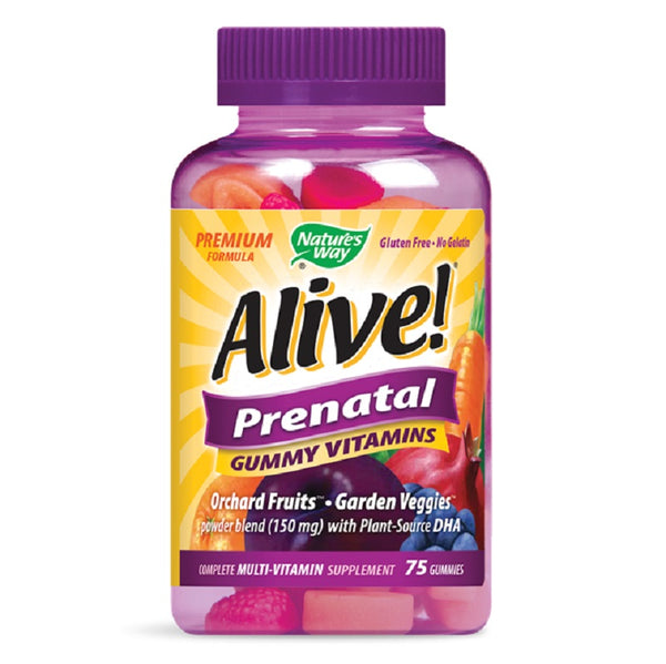 Nature's Way | Alive!® Prenatal Multi-Vitamin Gummies | 75 Gummies