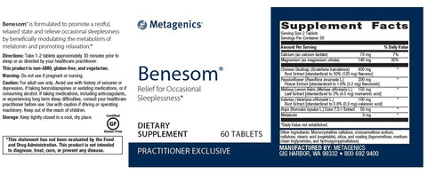 Metagenics | Benesom | 60 Tablets