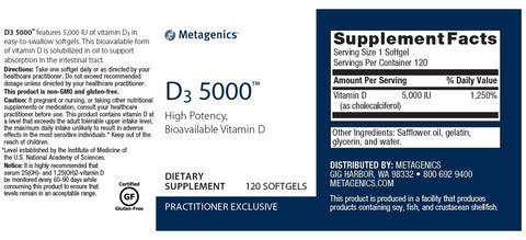 Metagenics | D3 5000™ | 120 Softgels