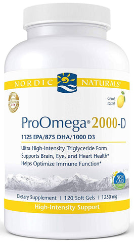 Nordic Naturals | ProOmega 2000-D (Lemon) | 60 - 120 Softgels