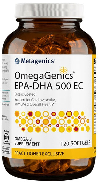 Metagenics | OmegaGenics® EPA-DHA 500 EC Lemon | 120 - 240 Softgels