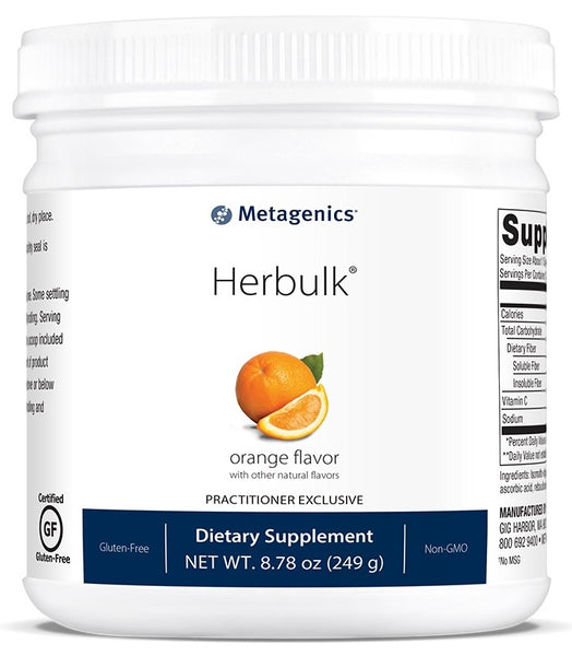 Metagenics | Herbulk® Powder Orange Flavor | 30 Servings