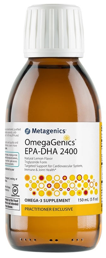 Metagenics | OmegaGenics® EPA-DHA 2400 Natural Lemon Flavor | 30 Servings