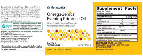 Metagenics | OmegaGenics® Evening Primrose Oil | 90 Softgels