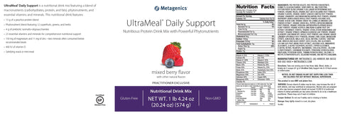 Metagenics | UltraMeal® Daily Support Mixed Berry | 14 Servings