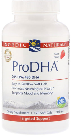 Nordic Naturals | ProDHA Strawberry | 120 Softgels