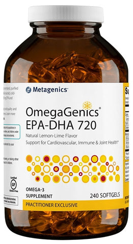 Metagenics | OmegaGenics® EPA-DHA 720 Lemon Lime | 60 - 120 - 240 Softgels