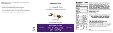 Metagenics | UltraMeal® Rice Vanilla | 14 Servings