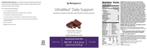 Metagenics | UltraMeal® Daily Support Chocolate | 14 Servings