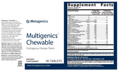 Metagenics | Multigenics® Chewable Orange Flavor | 90 Tablets
