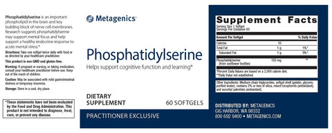 Metagenics | Phosphatidylserine | 60 Softgels