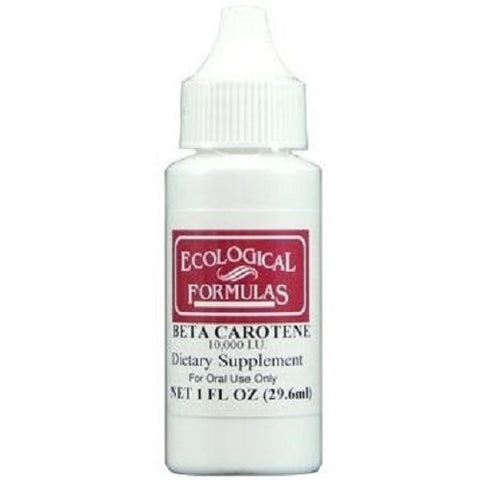 Ecological Formulas | Beta Carotene Drops (10,000 IU) | 1 fl. Oz