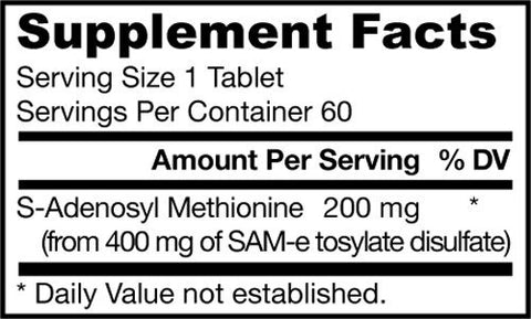 Jarrow Formulas | SAM-e 200 mg | 60 Tablets